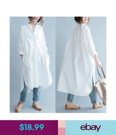 Many more like this can be found at the website! Give it a look for what we pick best for each category!DIMANAF Women Blouse Plus Size Autumn Cotton Long Blouse Solid O-Neck Split Casual Fashion Loose White Elegant Female Blouse Oversized Button Down Shirt, Button Down Shirt Dress, Blouse Dress, Long Sleeve Shirt Dress, Oversized White Shirt, Cotton Long Dress, Cotton Dresses, Dress Long, Cotton Shirt Dress