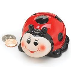 Cute Ladybug Mini Piggy Bank Adorable Gift Item And Collectable: http://www.amazon.com/Cute-Ladybug-Piggy-Adorable-Collectable/dp/B002UKLVMY/?tag=headisstrandh-20