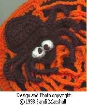 Cross-Eyed Spider - free Crochet Pattern