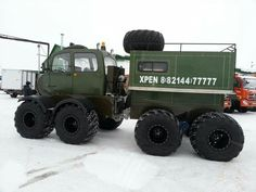 8 x 8 articulated off-road all-terrain vehicle.