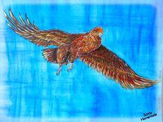 challenge Artjournal 'Dans les airs' - un aigle
