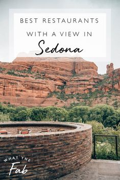 This list covers all of the top Sedona restaurants with a view so you can have the best food with a side of the most epic, incredible views! Arizona Road Trip, Arizona Travel, Sedona Arizona, Sedona Restaurants, The Places Youll Go, Places To Go, International Travel Tips, Travel Route, Train Travel