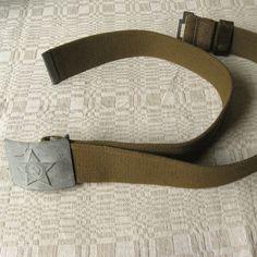 Soviet Army Belt, Khaki Military Belt, Khaki Cotton Webbing, Men's Belt, Army Fashion Belt, Vintage Belt https://www.etsy.com/shop/MyBootSale