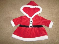 Nice Christmas Dresses Infant Girls Red Velour Hooded Christmas Dress Santa Outfit size Newborn VGUC on... Check more at https://24myshop.ga/fashion/christmas-dresses-infant-girls-red-velour-hooded-christmas-dress-santa-outfit-size-newborn-vguc-on/