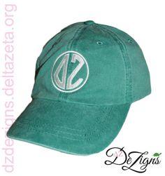Delta Zeta Forest Green Monogram Hat!