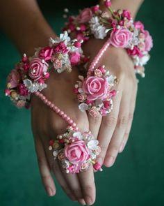 Pink for the win Boho Hippie, Bridal Accessories, Wedding Jewelry, Hand Accessories, Hand Bracelet With Ring, Hand Ring, Ring Bracelet, Bridal Mehndi Dresses, Wedding Lehnga