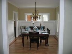 want to do high wainscot like this in my dining room and use the molding to hold pictures.