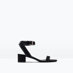 ZARA - NEW THIS WEEK - MEDIUM HEEL ANKLE-STRAP SANDALS