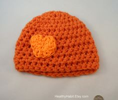 Items similar to Heart Chunky Beanie in Orange on Etsy on Etsy Beanie, Orange Things, Trending Outfits, Carrot, Unique Jewelry, Hats, Handmade Gifts, Vintage, Kid Craft Gifts