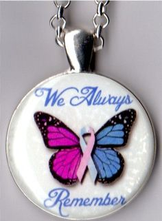 Pregnancy Loss Butterfly Always Remember Pendant by ACharmedLife4, $5.00