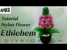 Nylon stocking flowers tutorial #19, How to make nylon stocking flower step by step - YouTube