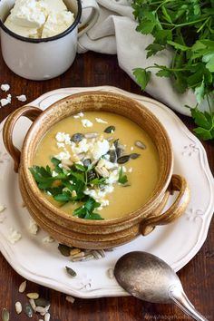 Creamy Chickpea Soup with Coconut and Feta Picture