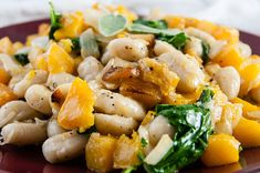 Brown Butter Gnocchi with Roasted Squash and Kale - Seasoned Sprinkles Roasted Squash, Butternut Squash, Vegetable Seasoning, Brown Butter, Gnocchi, Dumplings, Kale, Food Print
