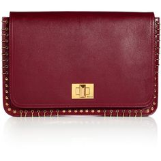 EMILIO PUCCI Burgundy Square Clutch found on Polyvore