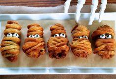 heryhafte Halloween Rezepte für Fingerfood - Mumien aus Teig