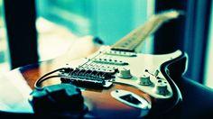 Rock guitar photography