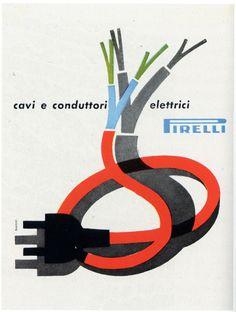 Pirelli ad, circa 1950s