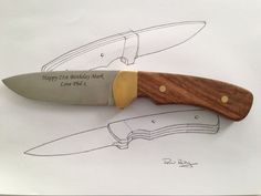 I love to design and make things – it's my passion! One day at work by boss showed me a picture of a kitchen knife he made completely from scratch and...