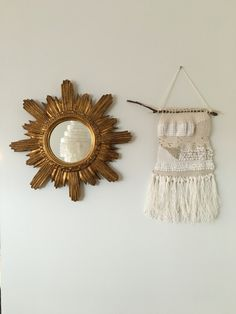 My Mum's Mirror and My Weaving work! Old And New, Decoration, Crochet Earrings, Weaving, Drop Earrings, My Style, Castle, Mirror, Jewelry