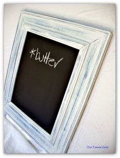 Recycled Shabby Chic Small Chalkboard - by BlueMonsoonStudios on madeit