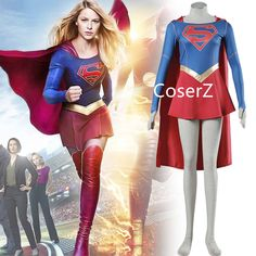 Supergirl Costume Marvel Superhero Series Superwoman Cosplay Fancy Dress Halloween Costumes for Adult Women Plus Size Super Hero Costumes, Girl Costumes, Adult Costumes, Costumes For Women, Halloween Costumes, Halloween 2020, Adult Halloween, Cosplay Dress, Cosplay Costumes
