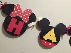 Mickey/Minnie Bday banner