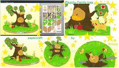 Pikachu family tree papercraft release by Antyyy.deviantart.com on @DeviantArt