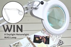 We're celebrating the launch of our fantastic lighting event this week, we've got one daylight magnifying lamp >> to give away to a very luck winner, worth £75