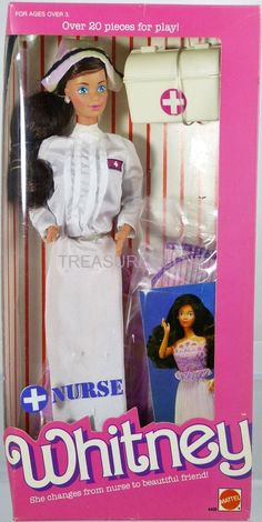 Barbie Nurse Whitney Doll #4405 New NRFB 1987 Mattel, Inc. 3+ #MattelInc #Dolls
