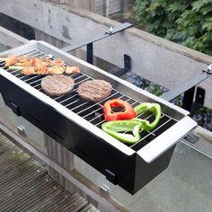 Barbecueën op een klein balkon is nu ook mogelijk met deze compacte balkon barbecue!