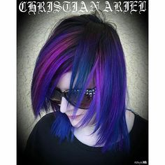 Christian Ariel gave me oilslick hair with pravana vivids and pravana locked ins. I absolutely love my new hair!
