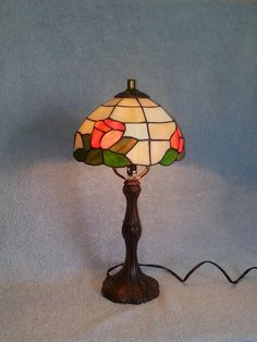 Stained Glass Lamp  Floral Theme
