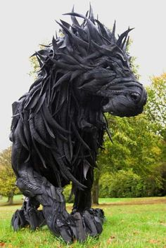 Great Idea! Lion Made From Recycled Tires