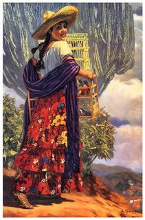 "Vintage Mexican Calendar Art by Antonio Gomez ~ ""Rosita The Bird Seller"" ~ Mexican Calendar Girl Pin Up ~ Traditional Mexican Clothes by MexiClacla on Etsy Mexican Artwork, Mexican Folk Art, Mexican Heritage, Mexican Style, Jesus Helguera, Jorge Gonzalez, Hispanic Art, Latino Art, Mexico Art"