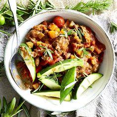 Braised lamb with borlotti beans, rosemary, leek and roasted capsicum | Healthy Recipe | Weight Watchers AU