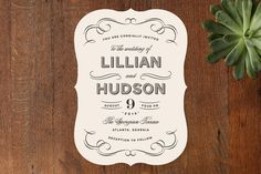 Doux Amour Wedding Invitations by Olivia Raufman at minted.com -- Invitation