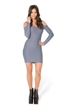 Matte Grey Cold Shoulder Dress › Black Milk Clothing
