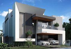 A imagem pode conter: céu, casa e ar livre in 2020 Architecture Design, House Architecture Styles, Facade Design, Modern Small House Design, Bungalow House Design, House Front Design, Modern House Facades, Villa Design, Facade House