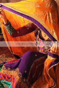 Najia-Asfia http://www.facebook.com/NajiaAsfia #lehnga #colors