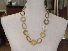 Horn links necklace.