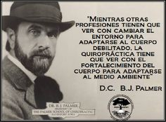 B.J. Palmer, the developer of chiropractic | {Chiropractic ...