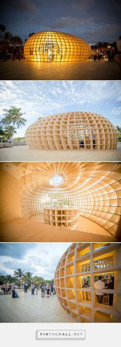 Illuminated Wooden Güiro Bar Inspired by Tropical Fruit Shell  | Inhabitat - Green Design, Innovation, Architecture, Green Building - created via https://pinthemall.net
