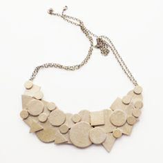 With wood shapes from the craft store, its easy and inexpensive to make this simple shapes necklace. Check it out for the tutorial!