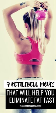 9 Kettlebell Moves That Will Help You Eliminate Fat Fast - Quicker Stronger Days Best Green Juice Recipe, Green Juice Recipes, Fast Weight Loss, Fat Fast, Lose Weight Naturally, Kettlebell, Barbell, Fat Burning, Fitness Tips