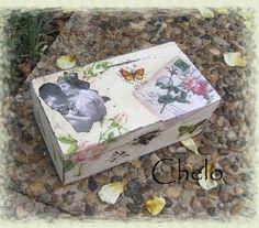 caja vintage Decoupage Box, Pintura Country, Tin, Decorative Boxes, Vintage, Home Decor, Boxes, Picture On Wood, Wood Boxes
