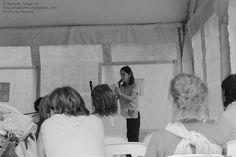 5a Feria del Libro de Río Ceballos, presentación del libro Historias que nos Siembran, de Lilah Ríos. En esta foto Lilah, quien nos dio la oportunidad de este debut. ¡Gracias,Lilah!