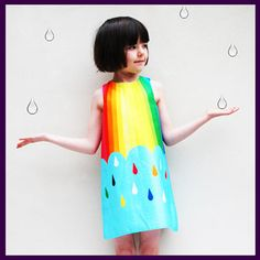 Gorgeous Rainbow Spectrum Dress now available with free UK delivery at http://www.littlebuttonsboutique.co.uk/catalog/wild-things-2/