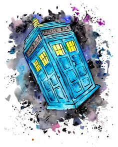 Tardis - Doctor Who Print by nicolesloan