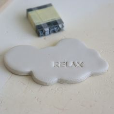ArtMind - Printing letters on clay - cloud shape is truly adorable