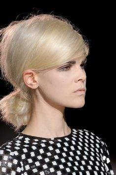 Low Ponytail Hair Style Trend for Spring Summer 2013.  Marc Jacobs Spring Summer 2013.   #hair #trends